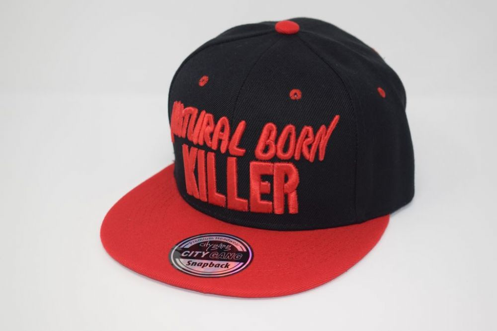 NATURAL BORN KILLER Snap back Caps one size fits all adjustable